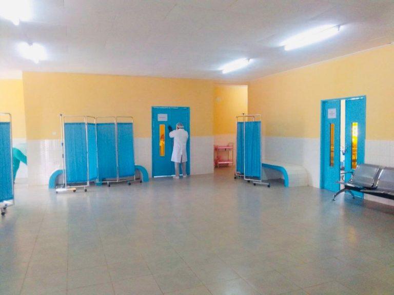 Une vue de la salle d'attente des urgences